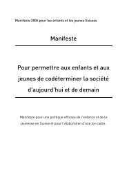 Manifeste, avec signatures - und Jugendpolitik
