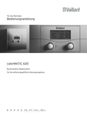 bedienungsanleitung vrc calormatic mf heizungsregelung de. Black Bedroom Furniture Sets. Home Design Ideas