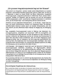 """""""Ein grosses Integrationspotenzial liegt auf der ... - Kind und Umwelt"""