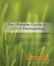 Kinetik Green Guide 2013