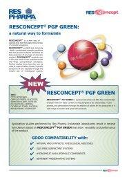 Resconcept PGF Green - Kinetik