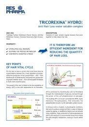 Tricorexina Hydro Marketing Sheet - Kinetik