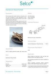 Selco Dipotassium Glycyrrhizinate Leaflet - Kinetik