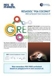 Resassol PG-6 Coconut Marketing Sheet - Kinetik