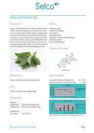 Selco Ursolic Acid Sodium Salt Leaflet - Kinetik