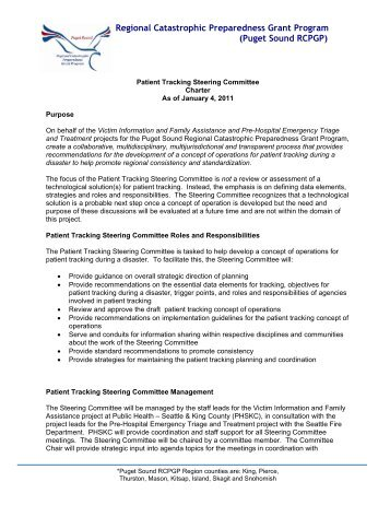Patient Tracking Steering Committee Charter
