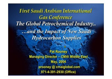 The Global Petrochemical Industry..