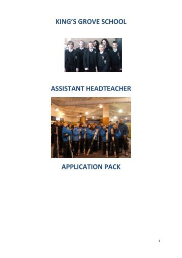 Download Assistant Headteacher Job Pack - kings-grove.cheshire ...