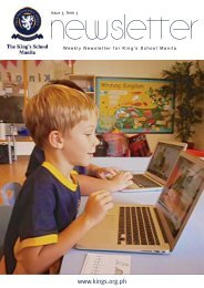 KSM Newsletter April 26th 2013 - The King's International School ...