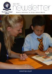 KSM Newsletter October 5th 2012 - The King's International School ...