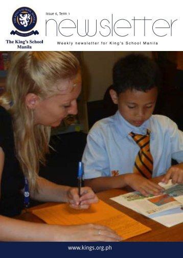 KSM Newsletter October 5th 2012 - The King's International School ...