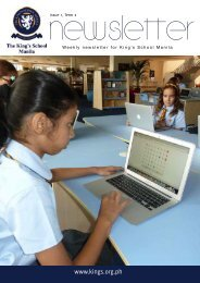 KSM Newsletter January 18th 2013 - The King's International School ...