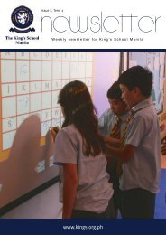 KSM Newsletter March 8th 2013 - The King's International School ...