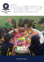 KSM Newsletter February 8th 2013 - The King's International School ...