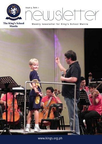 KSM Newsletter November 9th 2012 - The King's International ...