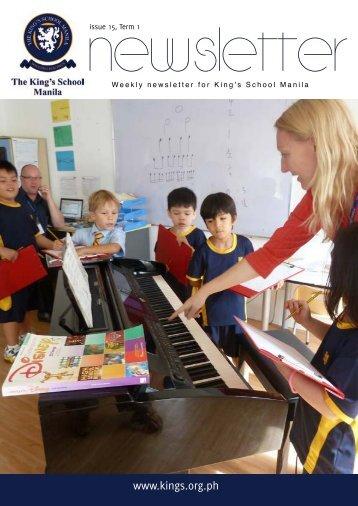 KSM Newsletter January 11th 2013 - The King's International School ...