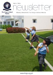 KSM Newsletter April 12th 2013 - The King's International School ...