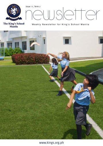 KSM Newsletter April 12th 2013 - The King's International School ...