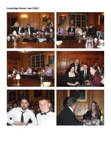 Cambridge Dinner, April 2012