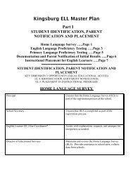 Kingsburg ELL Master Plan Part I - Kingsburg Elementary Charter ...