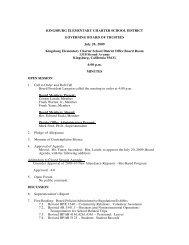 July 20 - Kingsburg Elementary Charter School District