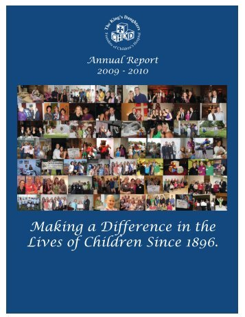 Download the 2009-2010 Annual Report - The King's Daughters