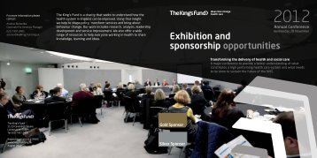 Exhibition and sponsorship opportunities at The King's Fund Annual ...