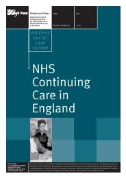 NHS Continuing Care in England Wanless Social ... - The King's Fund