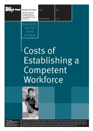 Costs of Establishing a Competent Workforce ... - The King's Fund