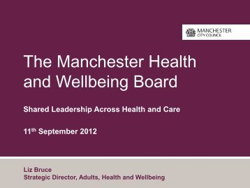 The Manchester Health and Wellbeing Board