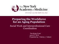 Preparing the workforce for an aging population ... - The King's Fund
