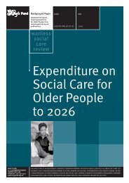 Expenditure on social care for older people to 2026 - The King's Fund