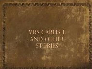 Mrs Carlisle and other stories