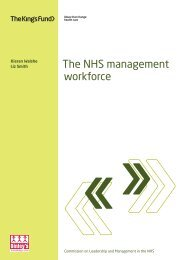 The NHS management workforce - Kieran Walshe ... - The King's Fund