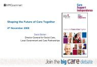 Shaping the Future of Care Together - The King's Fund