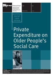Private Expenditure on Older People's Social care ... - The King's Fund