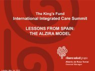 Lessons from Spain: The Alzira Model, Alberto de ... - The King's Fund