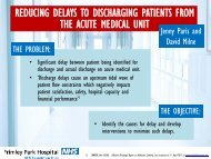 Reducing delays to discharging patients from the acute medical unit