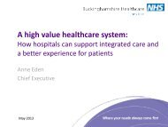 Anne Eden: A high value health care system