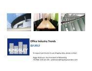 Office Industry Trends Q3 2012 - Kingsley Associates