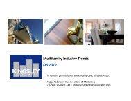 Multifamily Industry Trends Q3 2012 - Kingsley Associates