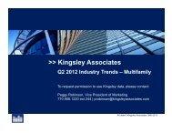 Kingsley Associates Q2 2012 Multifamily Trends Press Release
