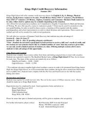 Summer Credit Recovery Enrollment Form 2013.pdf - Kings Local ...