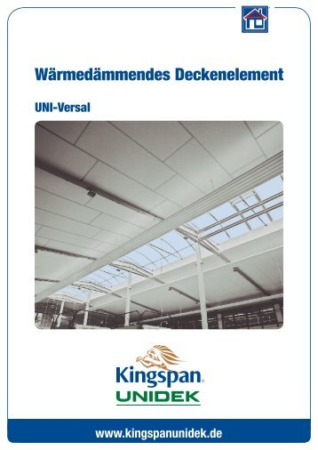 Produktinformation - Kingspan Unidek