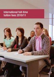International full-time tuition fees 2010/11 - Kingston University