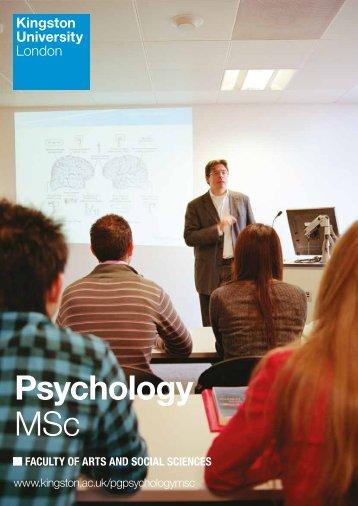 Psychology MSc - Kingston University
