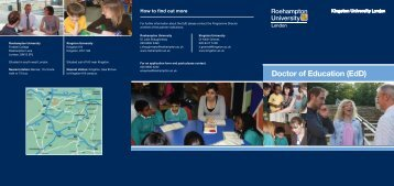 Download a PDF course booklet - Kingston University