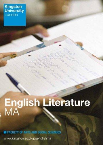 English Literature MA - Kingston University