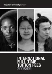 international tuition fees 2008/09 - Kingston University London