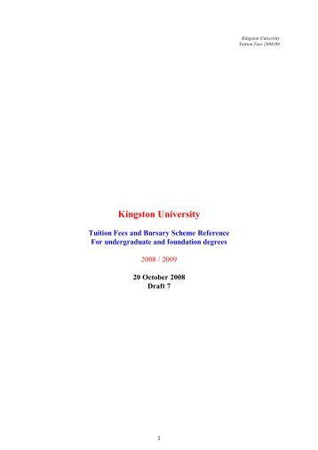 2008/09 fees - Kingston University